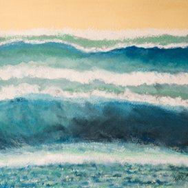 Wave Composition 48w x 41cm